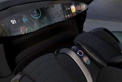 Simulation of a future vehicle's human-machine interface