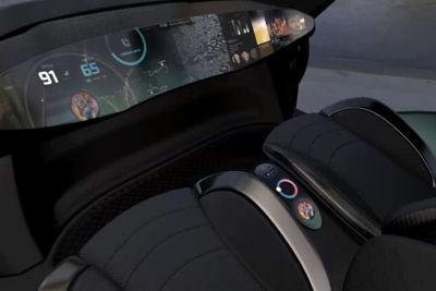 Simulation of a future vehicle's human-machine interface