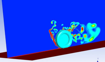 Apollo Tyres used ANSYS Fluent computational fluid dynamics (CFD) analysis to simulate water flow through car tires. This predicted lift force and hydroplaning speed, improving the wet grip of designs.