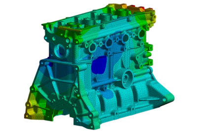 Ansys Mechanical Engine Block