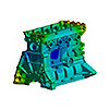 Structural simulation of an engine using Ansys Mechanical