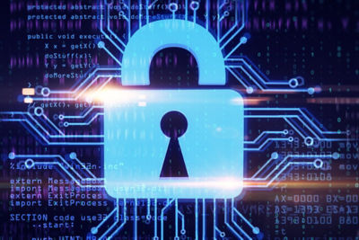 Image of a lock representing Ansys medini analyze's cybersecurity capabilities