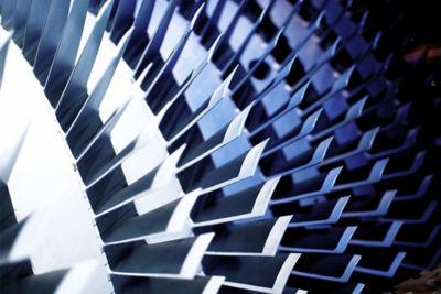 Image of aircraft turbine blades