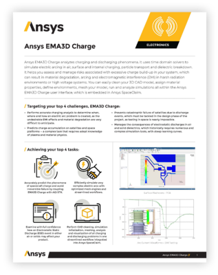 Ansys EMA3D Charge datasheet