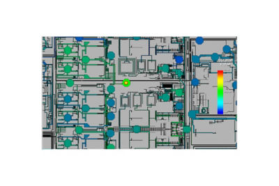 Image of Ansys RaptorH performing electromagnetic modeling