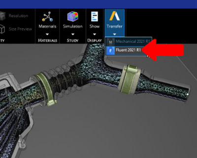 Pick up where you left off in Ansys Discovery and simulate more complex physical behaviors with direct access to Ansys Mechanical.
