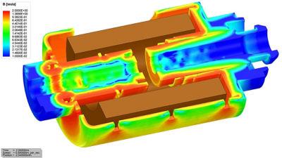 Ansys Electronics Desktop Student 3D actuator simulation
