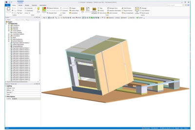 LS-DYNA WorkBench Package Drop Test Simulation with GUI