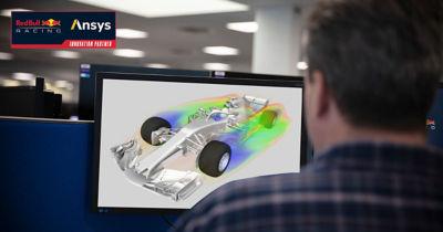 Reb Bull Racing uses Ansys Fluent computational fluid dynamics simulation software