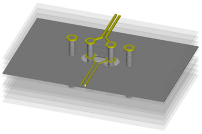Differential Via Optimization with Ansys HFSS 3D Layout and Ansys optiSLang