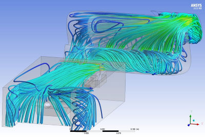 Simulation of ice tray flow