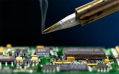 Flux residue left after soldering