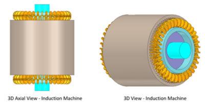 3D views of an induction machine