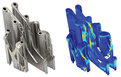 orientation support and additive manufacturing process simulation