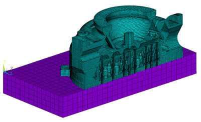 Finite element model of an injector