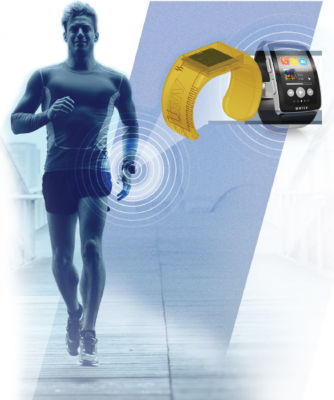 Simulation of a fitness tracker smart watch