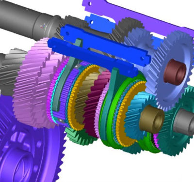Simulation of a drivetrain in Ansys Motion