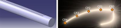 Lightguide parametrization to minimize RMS contrast and maximize average luminance