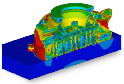 Structural simulation of the injector
