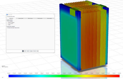 Workflow improvements in Ansys Fluent streamline battery simulations for conjugate heat transfer setup in a single panel.