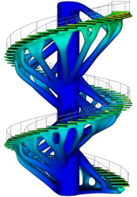 Topology optimization of a staircase using Ansys Discovery