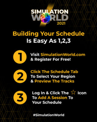 Build your own schedule for Simulation World 2021