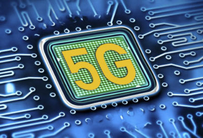 Computer chip graphic with the 5G symbol