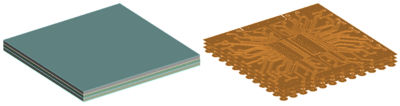 3D Base Geometry (Left) and Associated 2D Trace Reinforcement Geometry (Right)