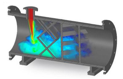 Simulation of a thermal mixer