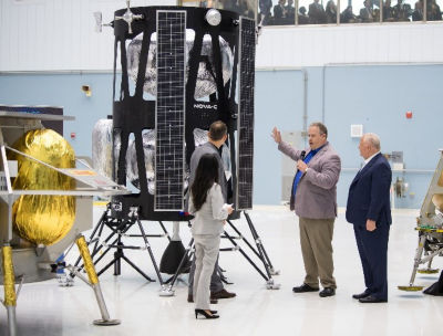 Vice president of Research and Development of Intuitive Machines, Tim Crain speaks with Thomas Zurbuchen, NASA Associate Administrator for the Science Mission Directorate