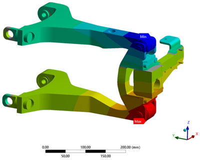 Ansys Mechanical helped Triggo engineers conduct system stiffness analysis, enabling them to measure component durability.