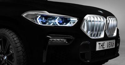 A BMW X6 coated in Vantablack
