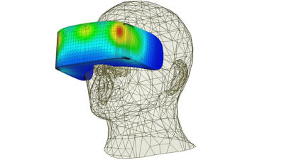 VR headset thermal simulation created with Ansys Icepak