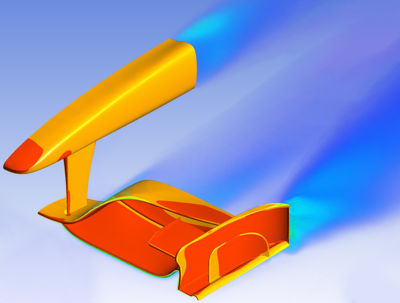 Simulation of a wing