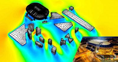 Particle simulation of aerosols in Johan Cruyff Arena